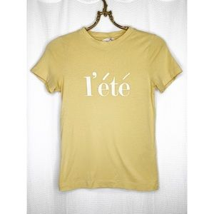 ✨4/$24 Yellow l'été t-shirt
